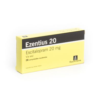 Escitalopram Ezentius 20 mg x 28 Comprimidos