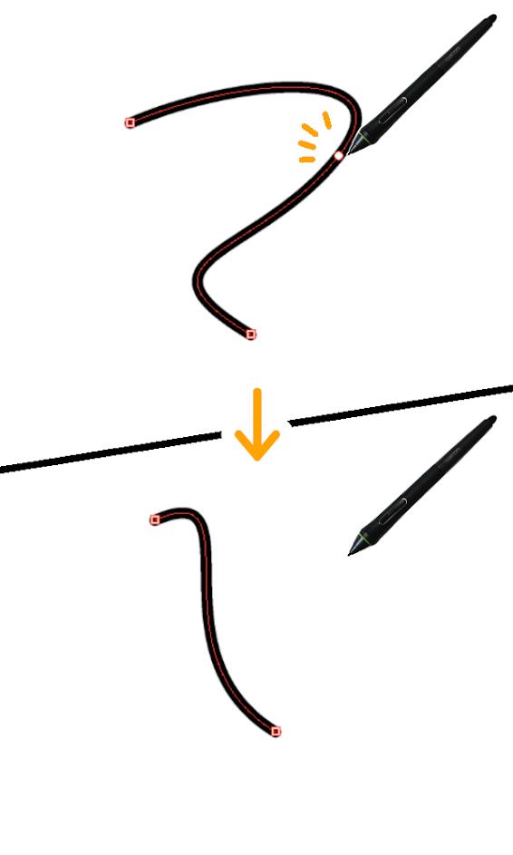 クリスタ:制御点の削除