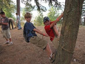 Photo: Eagle Quest class - Cameron trusts his knot