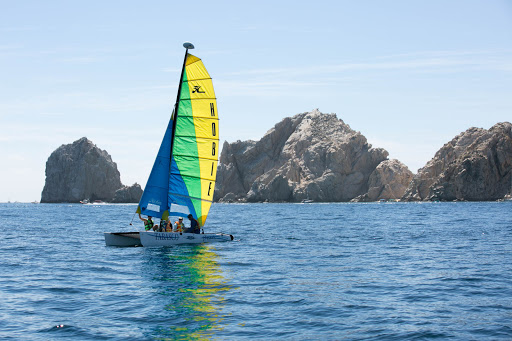 Hobie catamaran in Cabo.jpg - A Hobie catamaran plies the waters in Cabo.