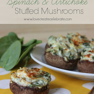 Spinach and Artichoke Stuffed Mushrooms