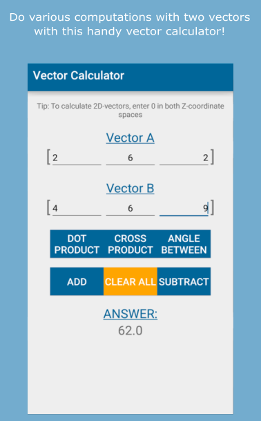 3D Vector Scalar Product Calculator  Calculate Product of