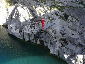 Photo: maketa skakača u Soču (na mostu ima platforma za skakanje)