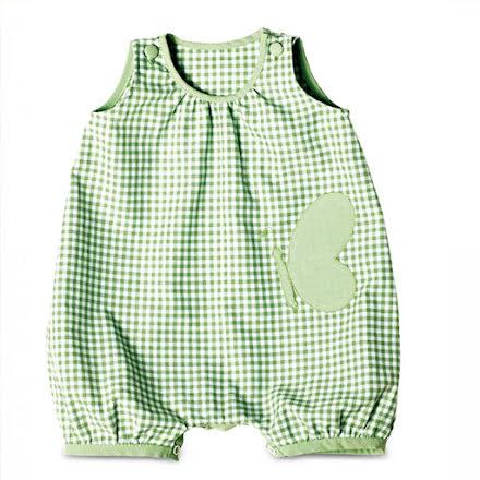Burda 9462 - jumpsuit, klänning och shorts för baby