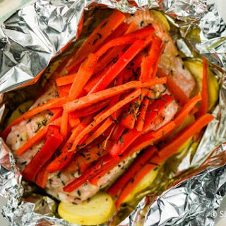 Baked Honey Salmon and Vegetables Recipe