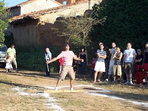 """Photo: Tirada de Barra Aragonesa ofrecida por Casa Rural """"Casa Médicas"""" Fiestas de San Ramón 2008 (Primer Clasificado: Rafael Marco)"""