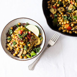Quick and Easy Chickpea Scramble.
