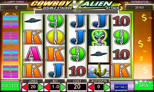 Cowboy V Aliens Attack Slots