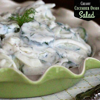 Creamy Cucumber Onion Salad.