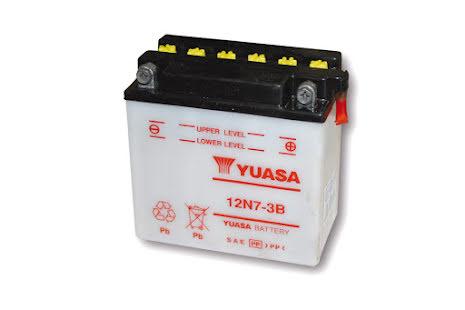 YUASA MC-batteri 12N7-3B utan syrapack