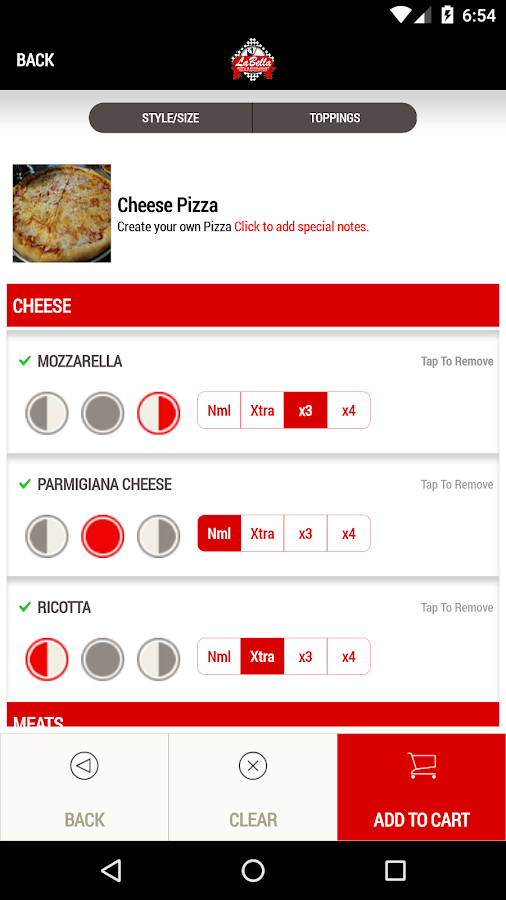 LaBella Pizza- screenshot