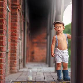 Old mill by Piotr Owczarzak - Babies & Children Children Candids ( mogilno, children, kids, boy, poland )