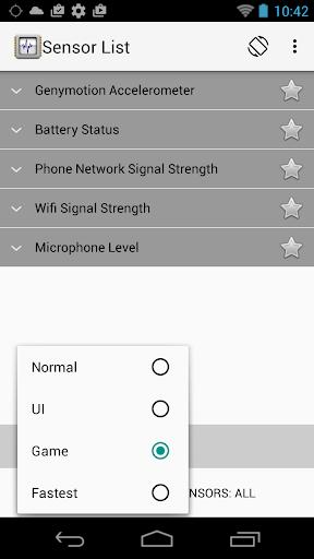 Sensor List screenshot 4