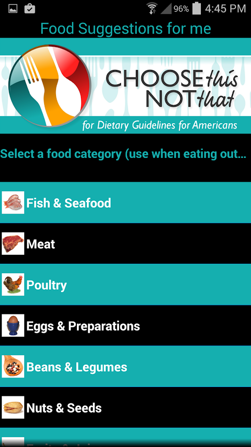 Dietary Guidelines- screenshot