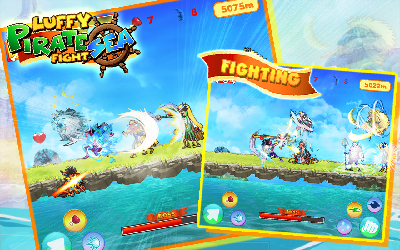 Luffy Pirate Sea Fight- screenshot