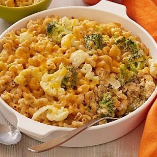 Broccoli and Cauliflower Gratin Mac n Cheese.