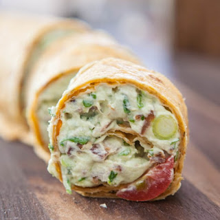 Avocado Cream Cheese Snack Roll-Ups