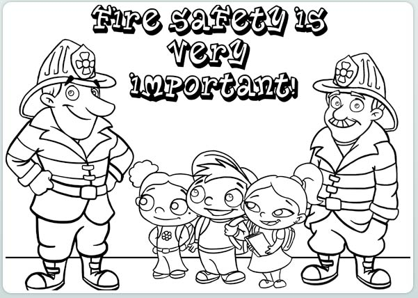Chadron Intermediate School: Fire Prevention Week Coloring