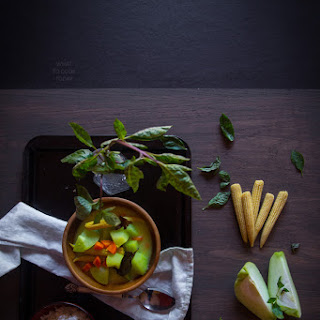 Vegetables in coconut milk (Sayur lodeh).