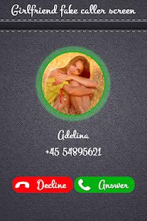 Girl Friend Fake Caller Screen - náhled