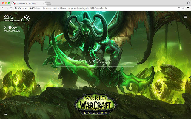 World Of Warcraft Wow Hd Wallpaper New Tab