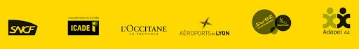 références clients en partenariat avec Séménia : SNCF, Icade, L'Occitane en Provence, Aéroprts de Lyon, Suez Environnement, Adapei 44