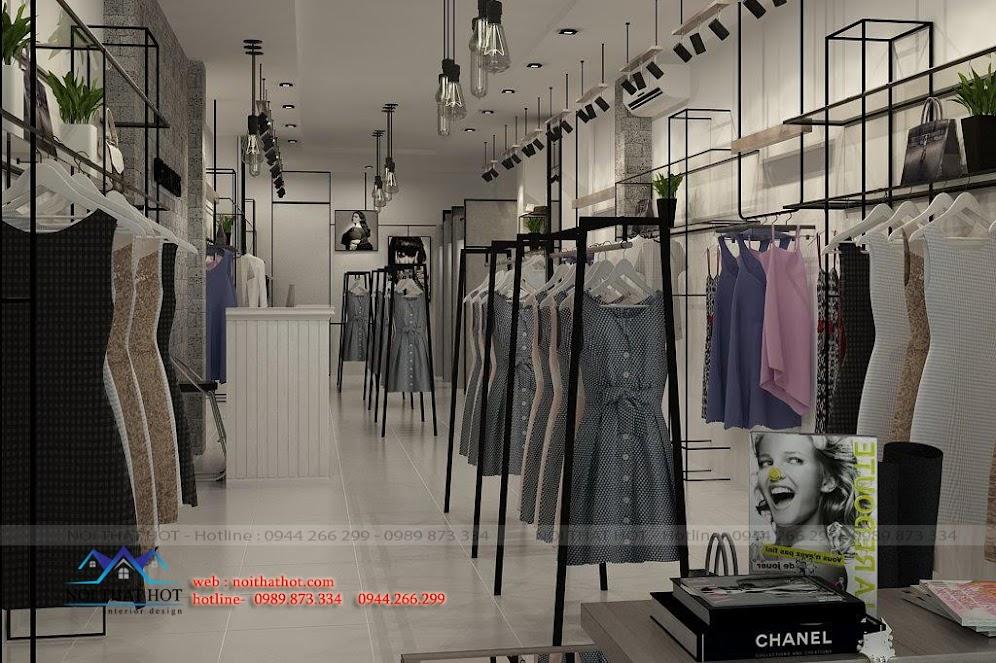 Thiết kế cửa hàng thời trang hiện đại