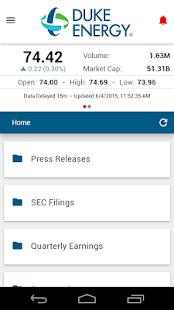 Duke Energy Investor Relations- screenshot thumbnail