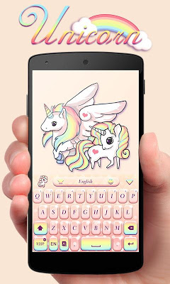 Unicorn GO Keyboard Theme - screenshot