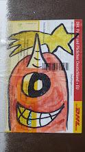 Photo: DHL-Sticker; Unknown Artist