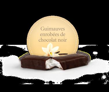 Chocolat Demie-guimauve enrobée de chocolat noir  Boîtes présentoirs