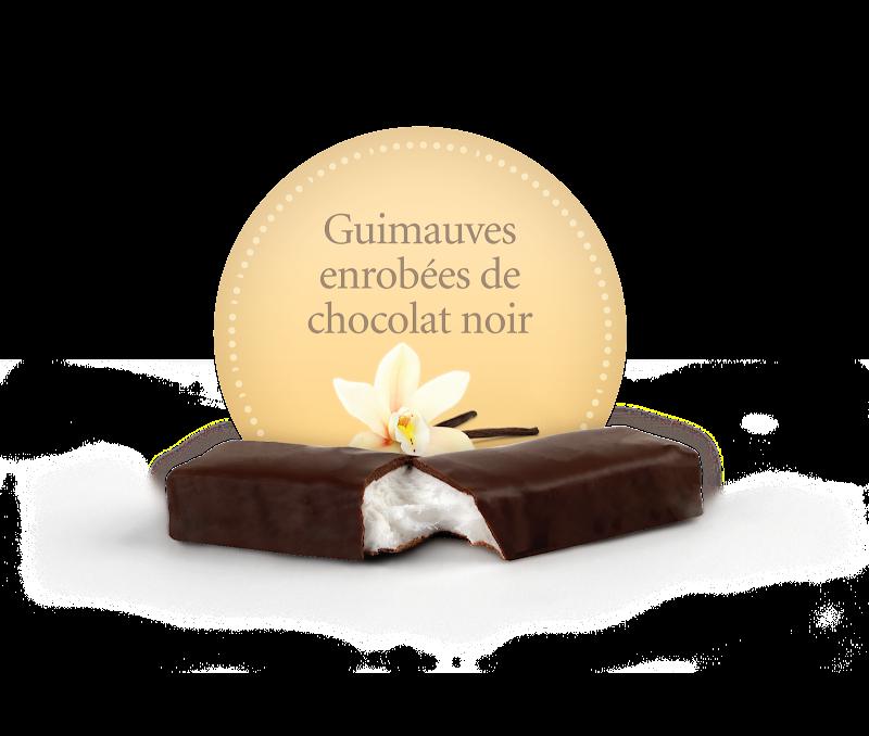 Chocolat Demie-guimauve enrobée de chocolat noir