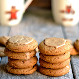 Soft and Chewy Molasses Cookies with Maple Glaze