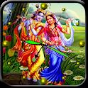 Radha Krishna Analog Clock icon