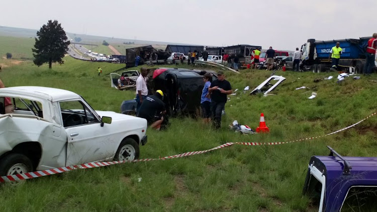Three people were injured following a 13-vehicle collision on the N4' outside of Middleburg in Mpumalanga'