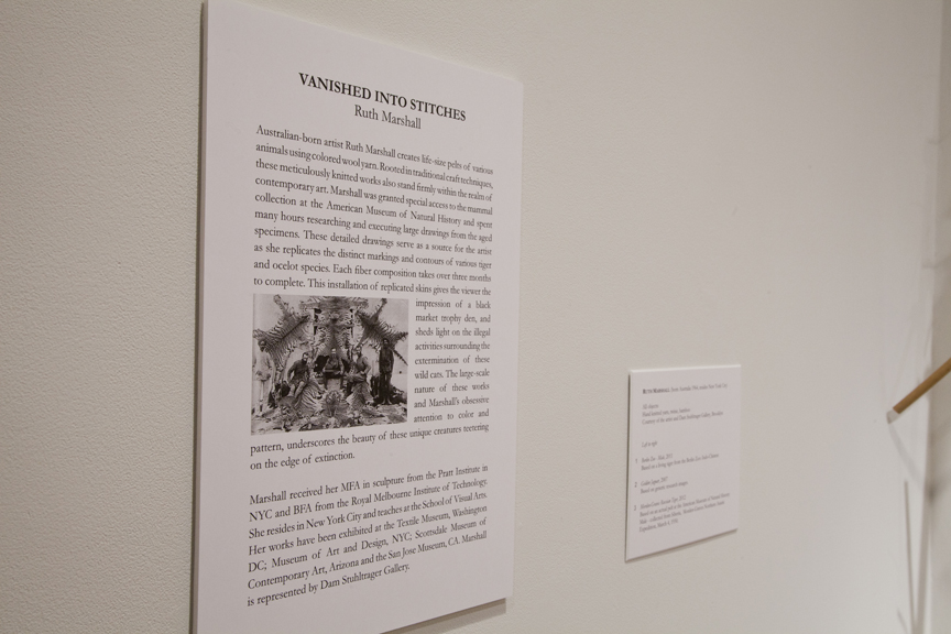 """Photo: Solo exhibition, """"Vanished into Stitches"""", University of Maine, Museum of Art, April 6 - June 9, 2012.  (C) Ruth Marshall, 2012."""