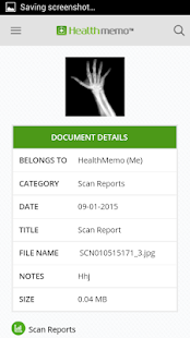 Healthmemo - eHealth Records- screenshot thumbnail