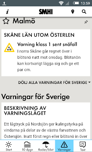 SMHI Väder- screenshot thumbnail