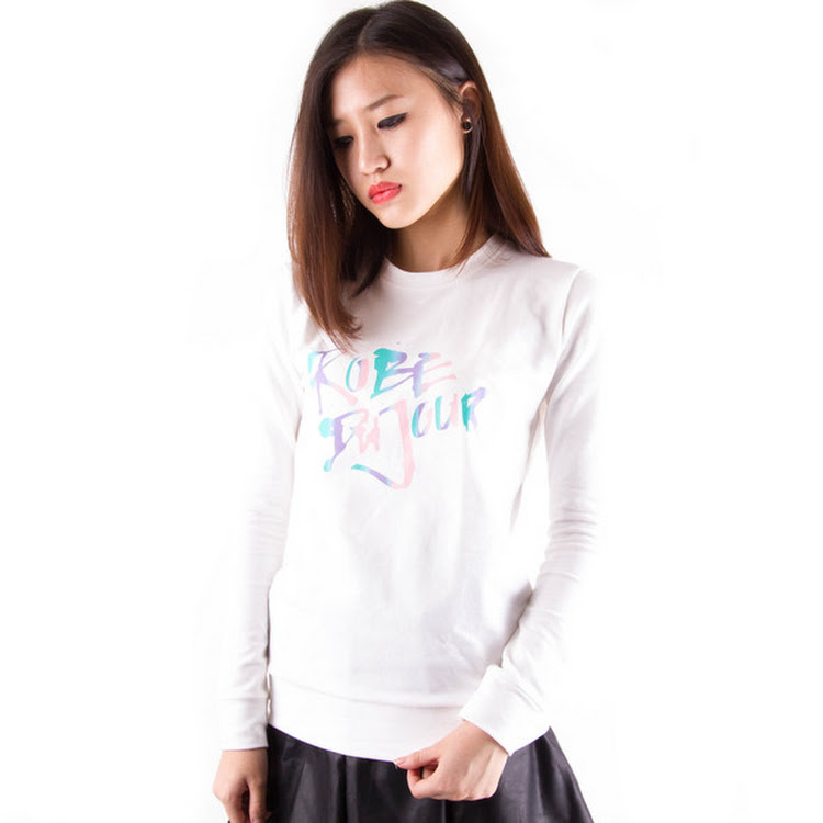 Gradient Logo Sweater White by Meridian Street Sdn Bhd