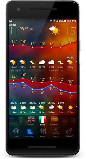 3D Earth - Weather Forecast with Animated Maps USA  screenshots 4