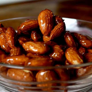 Honey Glazed Almonds.