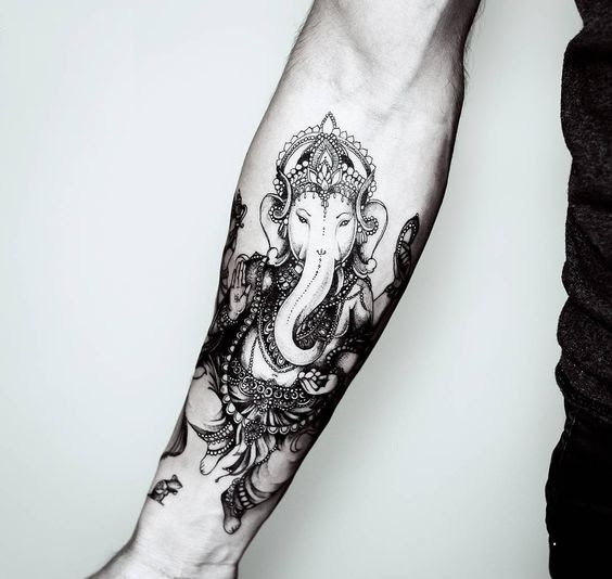 9c9dc193a 50 Beautiful Ganesha Tattoos designs and ideas With Meaning