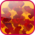 Valentine's hearts Wallpaper icon