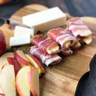 Prosciutto Cheddar Apple Wraps.