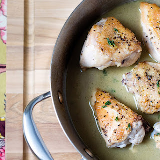 Pan-Roasted Chicken with Cognac Mustard Sauce + Anolon Giveaway