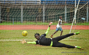 Photo: Solomon 'Zombo' Morris  [Training Camp ahead of Leone Stars v Swaziland Game on 31 May 2014 (Pic: Darren McKinstry)]