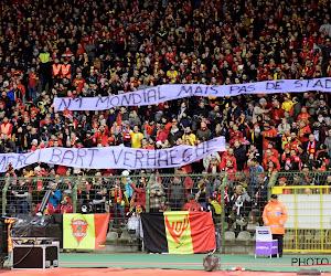 Supporters Rode Duivels nemen Bart Verhaeghe op de korrel