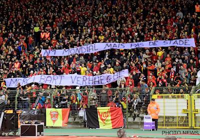 """""""Merci Bart Verhaeghe"""": Pas de stade pour l'Euro? Les supporters désignent un responsable"""
