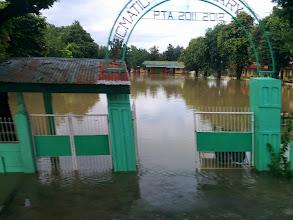 Photo: Flooded school