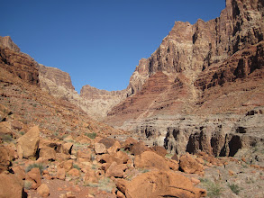 Photo: Looking up canyon
